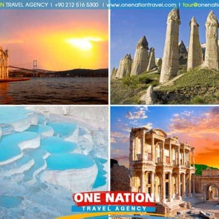 7 Days Istanbul, Cappadocia, Pamukkale and Ephesus Tour By Plane