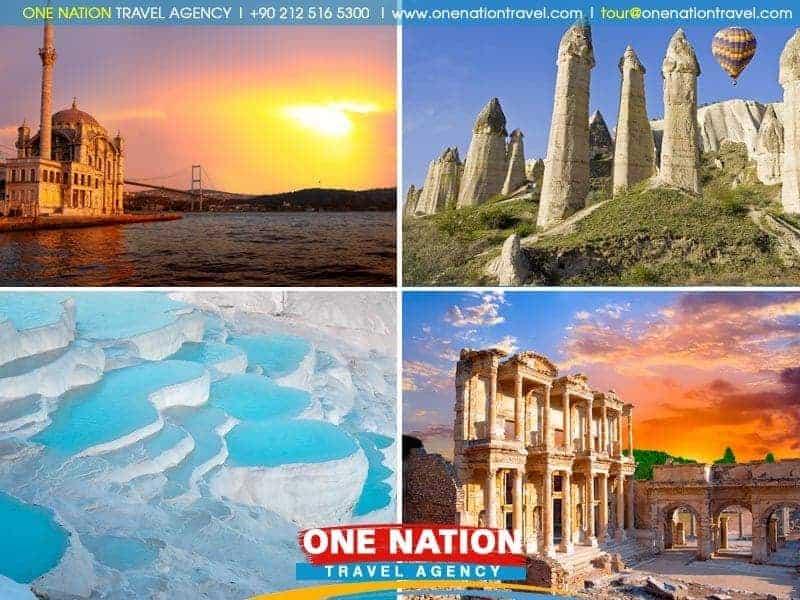 7 Days Istanbul, Cappadocia, Pamukkale and Ephesus Tour By Plane