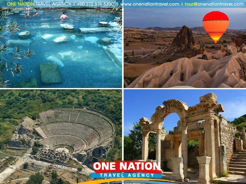 4 Days Ephesus, Pamukkale and Cappadocia Tour by Plane & Bus