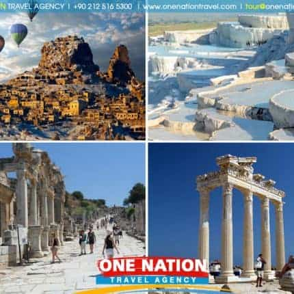 5-Day Cappadocia, Pamukkale, Priene, Miletus, Didyma & Ephesus Tour by Plane