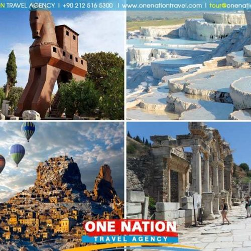 5 Days Cappadocia Pamukkale Ephesus and Troy Tour