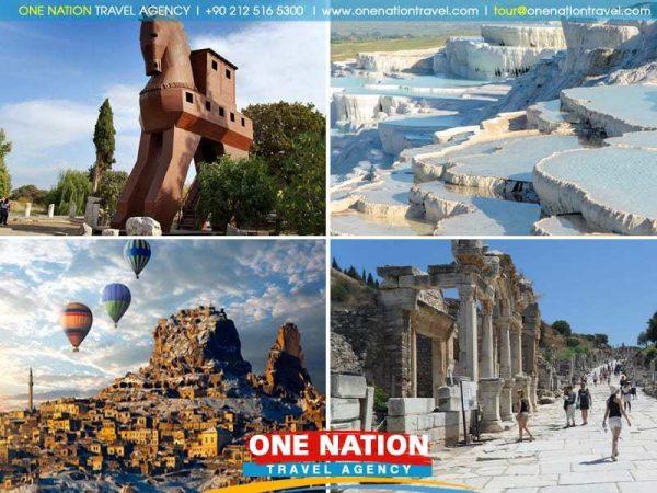 5 Days Cappadocia, Pamukkale, Ephesus & Troy Tour