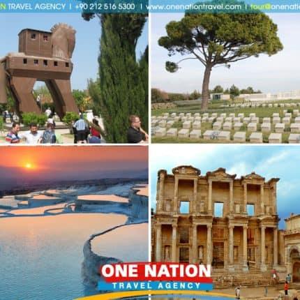 4 Days Tour of Pamukkale, Ephesus, Troy & Gallipoli