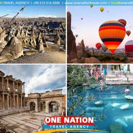3 Days Pamukkale, Ephesus and Cappadocia Tour from Istanbul by Plane