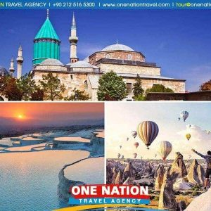 4 Days Cappadocia Konya and Pamukkale Tour