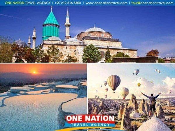 4 Days Cappadocia, Konya and Pamukkale Tour
