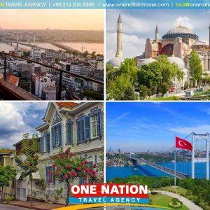 Tours includes the Blue Mosque, Hippodromme, Hagia Sophia, Topkapi Palace, Grand Bazaar, Bosphorus Cruise,