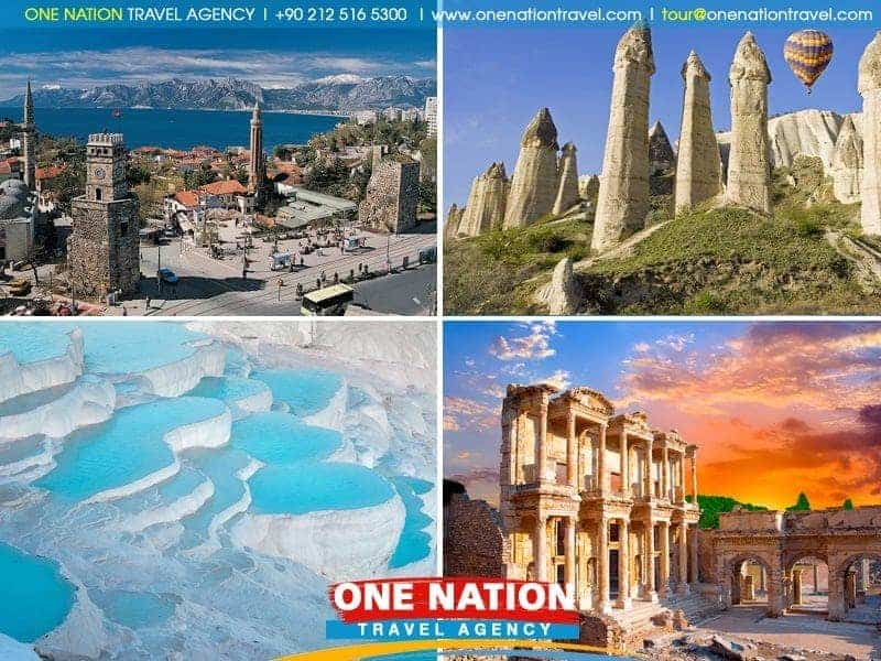 6 Days Cappadocia, Antalya, Pamukkale and Ephesus Tour