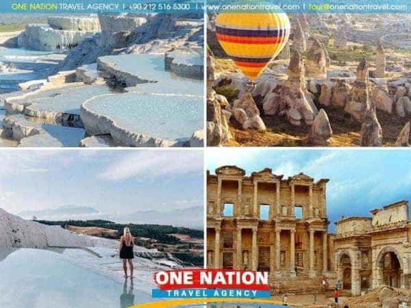 6 Days Ephesus Pergamon Pamukkale and Cappadocia Tour