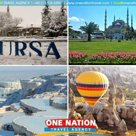 Istanbul, Bursa, Cappadocia and Pamukkale Tour Package