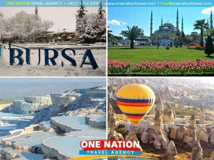 8 Days Istanbul Bursa Cappadocia and Pamukkale Tour