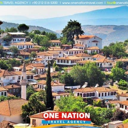 Sirince village is near the ancient ruins of Ephesus and the cosmopolitan holiday resort of Kusadasi on the Aegean coast of Turkey