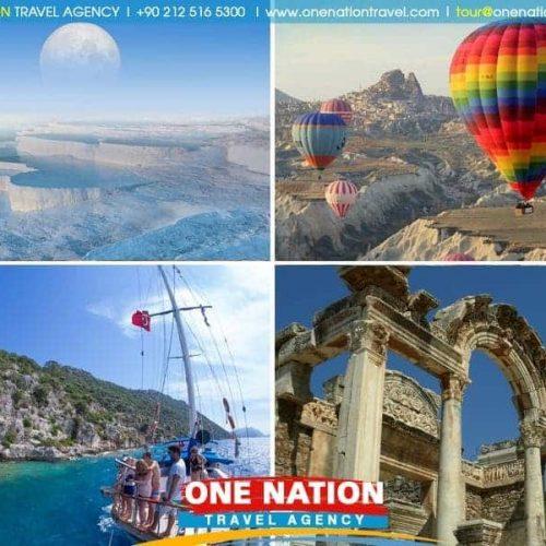 9 Days Ephesus Pamukkale Fethiye Blue Cruise Antalya and Cappadocia Tour