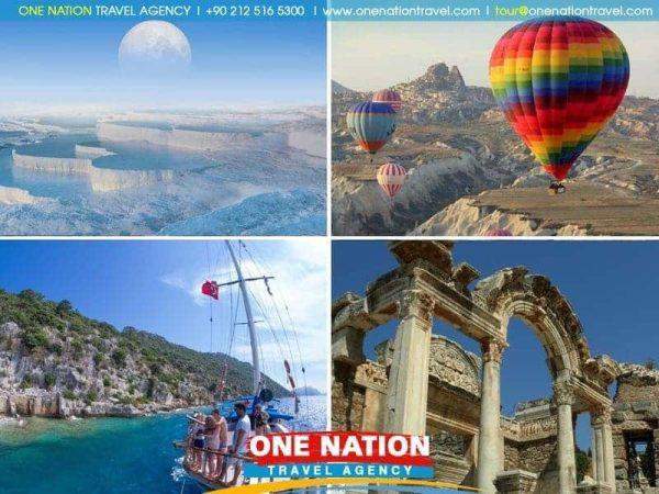 Ephesus, Pamukkale, Fethiye, Blue Cruise, Antalya and Cappadocia Tour