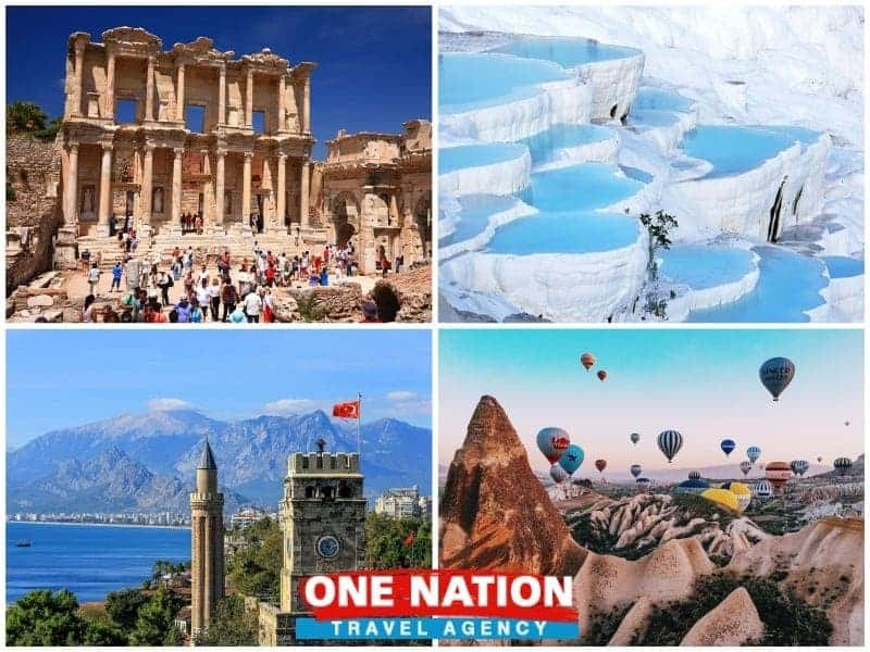 8 Days Ephesus, Pamukkale, Antalya and Cappadocia Budget Tour by Bus