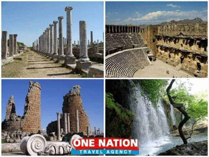 Perge Aspendos Side and Kursunlu Waterfalls Tour from Antalya