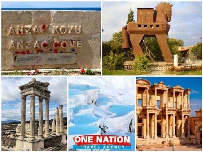 4 Days Gallipoli Troy Pergamon Pamukkale and Ephesus Tour