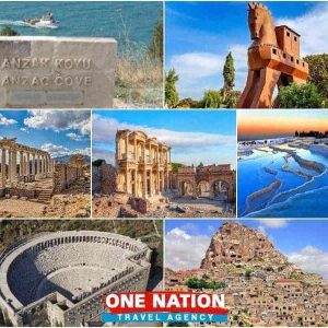 9 Days Gallipoli Troy Pergamon Ephesus Pamukkale Antalya and Cappadocia Tour