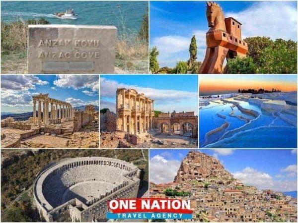 9 Days Gallipoli Troy Pergamon Ephesus Pamukkale Antalya and Cappadocia Tour