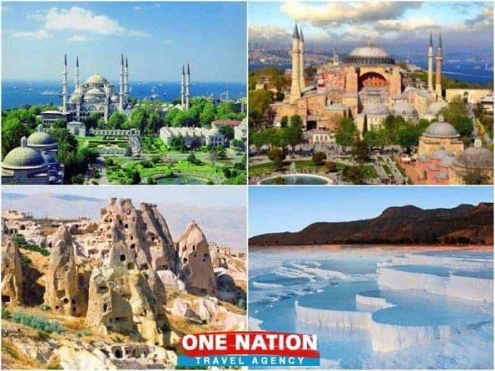 5 days Istanbul Cappadocia and Pamukkale tour package