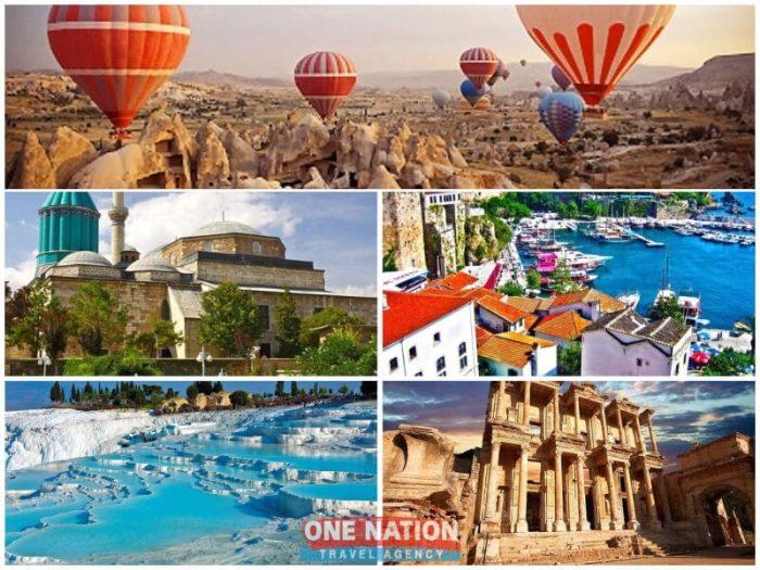 8 Days Cappadocia, Konya, Antalya, Pamukkale and Ephesus Tour